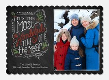 photo Christmas cards - Wonderful Time