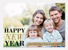 Glittering New Year - new years photo cards