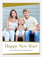 Glam New Year -  happy new years cards