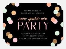 Cue the Confetti - Holiday Party Invitations