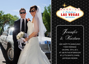 Marriage Announcements - Las Vegas Wedding - Black