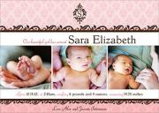 Baby Girl Announcements - Baroque Baby Announcements