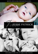 Baby Black Five -  Birth Announcements for Boys