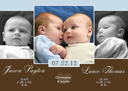 Twin Birth Announcements - Twice as Nice Twin Birth Announcements