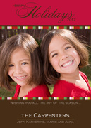 holiday photo cards - Holiday Red and Brown