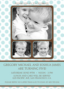 Twin Invitations - Icing