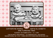 Twin Birthday Invitations - Double Fun