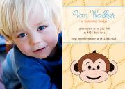 Monkey Business Boy Birthday Invitations