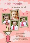 Cute Birthday Girl Invitations-