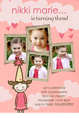Cute Birthday Girl Invitations