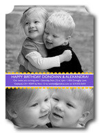 Twin Birthday Invitations - Cheerful