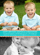 Twin Invitations - Cheerful