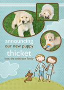 Puppy Announcements - Fetching -  Pet Photo Cards