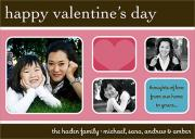 Pink Blue Brown -  Valentine Cards