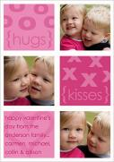 Valentine Photo Cards - Hugs and Kisses