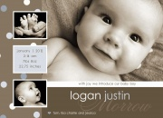 Logan Dustin - Baby Boy Announcements