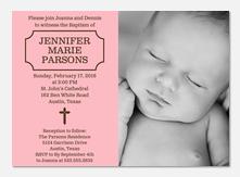 Gods Gift Christening Invitations-
