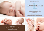Birth Announcements for Boys - Cute Collage