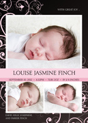 Louise Jasmine - Baby Girl Announcements