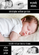Precious Collage Black -  Birth Announcements for Boys