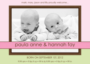 Twin Birth Announcements - Baby Border