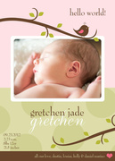 Birth Announcements - Gretchen Jade - Baby Girl Announcements