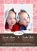 Baby Portrait - Twin Birth Announcements