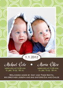 Baby Portrait -  Twin Baby Announcements