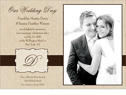 Wedding Announcements - Love