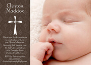 Blessed Day Baptism Invitations-