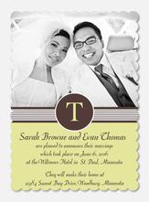 Monogram Stripes - Wedding Announcements
