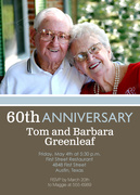 Modern Anniversary Invitations -  Photo Anniversary Invitations
