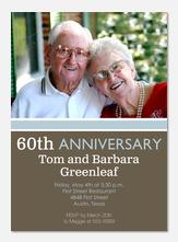 Anniversary Invitations - Modern Anniversary Invitations