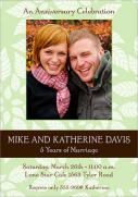Green Leaf Anniversary Invitations -  Photo Anniversary Invitations