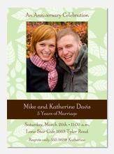 Green Leaf Anniversary Invitations - Anniversary Invitations