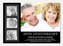 Contemporary Anniversary - Anniversary Invitations