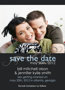 Photo Save the Date Cards - A Perfect Match - Save the Date