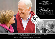 80th Birthday Invitations - Adult Birthday Invitations