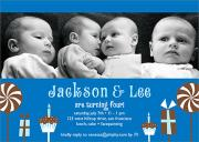 Twin Birthday Invitations - Birthday Fun
