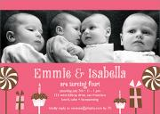 Birthday Fun -  Twin Invitations