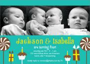 Birthday Fun - Twin Birthday Invitations