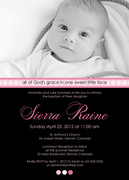 Vivid Christening Invitations-