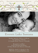 - Natural Scrolls Baptism Invitations