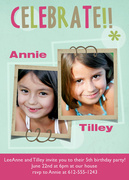 Double Bubble Twin Birthday Invitations -  Twin Invitations
