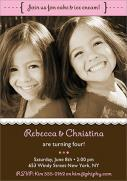 Twin Invitations - Cutie Birthday Invites for Twins