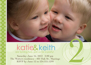Twin Birthday Invitations - Twins Big Number