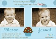Polka dot Sprinkles -  Twin Invitations
