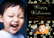 Skull and Crossbones - halloween photo cards