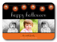 Pumpkin Lights - halloween photo cards
