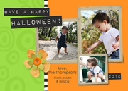 Boo Button - halloween photo cards